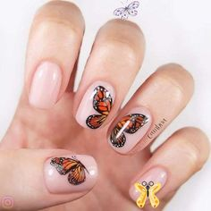 50 Stunning Trendy Nail Designs to Inspire Your Next Manicure ✨ 💘  <br> Girls Nail Designs, Nail Art Designs Videos, Nail Art Videos, Nail Design Video, Butterfly Nail Art, Flower Nail Art, Lace Nail Art, Color Changing Nails, Girls Nails