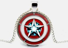 Captain America Necklace Iron Man Pendant Arc Reactor Necklace Jewelry Gift (with jewelry box) Jewelry Gifts, Jewelry Box, Jewelry Necklaces, Pendant Jewelry, Pendant Necklace, Gold Pendant, Diamond Pendant, Nerd Jewelry, Jewlery