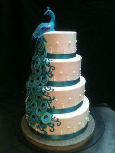 So elegant!! | Peacock Wedding Cake | Flickr - Photo Sharing!