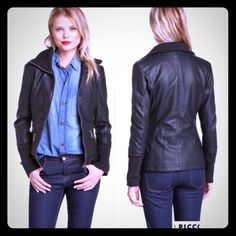 "⌛️SALE⌛️NWOT-Rampage Slim Faux Leather Jacket, M** NWOT Rampage Slim Faux Leather Jacket, (with faux fur interior) size: M** but it would best fit a SMALL.  I took the tags off (as always but I never wore it.. Was hoping to lose weight to fit into it, but it's been in my closet for a while now.  - Long sleeves with rib knit cuff - Front zip closure - 3 pockets with zip closure - Fully lined w/plush faux fur - Faux leather  - Approx. 23""L 18""Bust 23""Sleeves - Imported Coating: 100% PU…"