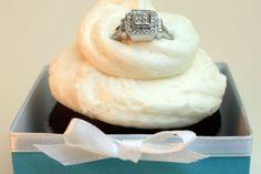 tiffany's box engagement cupcakes!