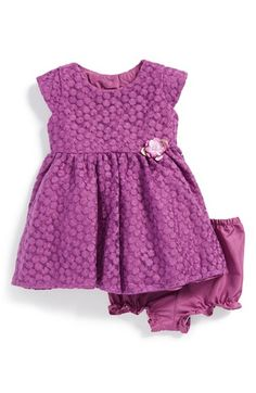 Free shipping and returns on Us Angels Cap Sleeve Lace Dress (Baby Girls) at Nordstrom.com. Flower-embroidered lace and a sparkly, sequined accent extend the festive charm of a cap-sleeve dress paired with matching bloomers.