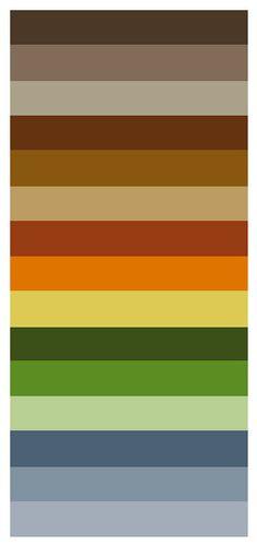 paleta tonos tierra colores