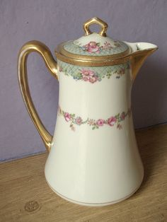 antique C Ahrenfeldt Limoges France chocolate pot by ShoponSherman, $139.00
