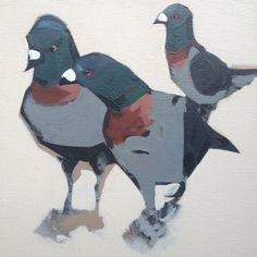 3 Pigeons by Matthew Stutely | Artfinder