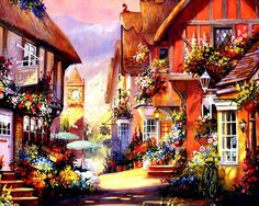 """Красочные домики от Jim Mitchell """""""