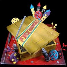 Firework Box - For all your cake decorating supplies, please visit craftcompany.co.uk