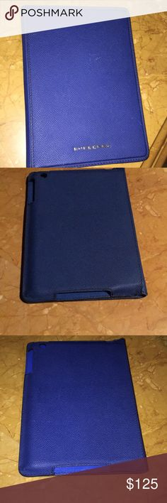 iPad mini case Metallic blue Burberry iPad mini case. Barely used, and in great shape. Practically new, 100% authentic. Yes, this product is UNISEX Burberry Accessories Tablet Cases