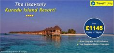 Exclusive vacation packages to Kuredu Island Resort for an exclusive price. Hurry, book your holiday now!