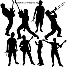 File:Band Silhouettes.svg