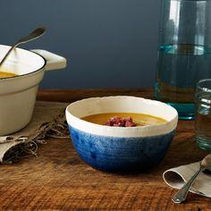 Blue Porcelain Soup Bowls (Set of 2)