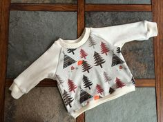 Organic Baby Raglan  Winter Fox 0-3 mo by AlberRoad