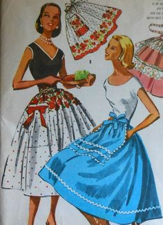 Vintage Wrap Around Apron Skirt Sewing Pattern Vintage Apron Pattern, Aprons Vintage, Vintage Dresses, Vintage Outfits, Vintage Fashion, Mccalls Sewing Patterns, Vintage Sewing Patterns, Apron Patterns, Sewing Aprons