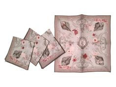 Cocktail Napkins  Grace in Mauve/Taupe by BentonArtandDesign, $27.50