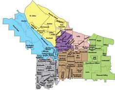 Need to know Sunnyside from Laurelhurst?  Check out this #Portland Oregon Neighborhood Map - Portland Oregon • mappery, Portland real estate