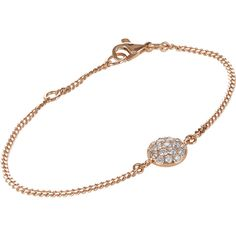 Roberto Marroni Diamond & Pink Gold XX Baby Sand Chain Bracelet-Colorl ($3,410) ❤ liked on Polyvore featuring jewelry, bracelets, colorless, charm bangle, diamond bangle, diamond pendant jewelry, disc pendant and lobster claw charms