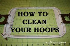 How to Clean Hoops--I hope I can remember that I pinned this when I need it!