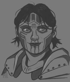 pseudofelis: SIGRUN - Dragon Age: Awakening i love her laugh :) she's so lovely! Dragon Age Origins, Art Blog, Awakening, Love Her, My Arts, Fan Art, Anime, Gaming, Baby
