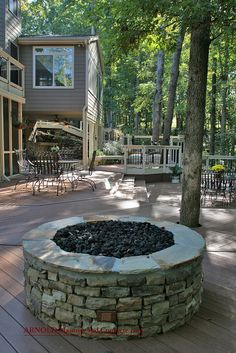 firepit by Stonehenge Hardscape Atlanta, via Flickr