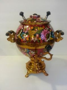 Why have an electric tea kettle when you can have a crazy samovar?