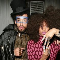 Recording Artist Taz Arjold and Recording Artist/Actor Erykah Badu backstage at Sa'ra video shoot held in Brooklyn, NY. Circa, 2008. (Photo by Terrence Jennings/terrencejennings.com)