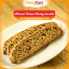 The authentic taste of a biscotti with a mellow honey flavour. Order it here at http://www.fomokart.com/bakery-and-ch…/biscotti-almond-honey