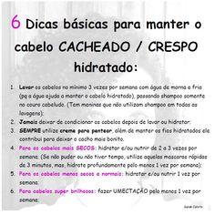 6 Dicas básicas para manter o cabelo Crespo / Cacheado hidratado!