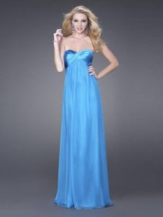 A-line Sweetheart Floor-length Chiffon Prom Dress with Ruffles $137.49