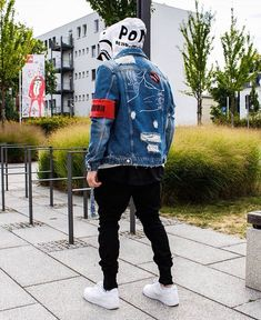 118 incredible urban dresses swag ideas – page 1 Tomboy Fashion, Denim Fashion, Streetwear Fashion, Men Looks, Winter Outfit For Teen Girls, Winter Outfits, Streetwear Jackets, Denim Jacket Men, Best Mens Fashion