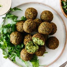 Are you ready for the best falafel you've ever tasted? Falafel are delicious balls of chickpea and herb goodness that you find in Middle Eastern cooking. Falafel Recipe Canned, Best Falafel Recipe, Chickpea Flour Falafel Recipe, Falafels, Authentic Falafel Recipe, How To Make Falafel, Vegetarian Recipes, Healthy Recipes, Tasty Meals