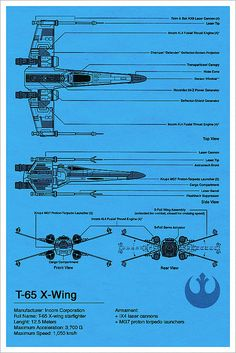 X-Wing Blueprint - Star Wars by Vespertin, via Flickr
