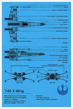 X-Wing Blueprint - Star Wars by Vespertin, via Flickr
