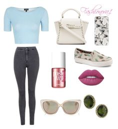 """""""Worse now"""" by fashionova1 ❤ liked on Polyvore featuring Topshop, ZAC Zac Posen, Casetify, Keds, Benefit, Lime Crime, Jimmy Choo and 1928"""