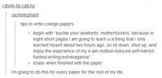 Uni essays / coursework