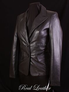 Beautiful leather jacket. Great tailoring and fit. Made from natural soft lambskin leather. This jacket will never go out of fashion. Even better in real life. You will be satisfied or your money back. | eBay!