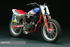 RS750 - When Honda decided to go flat track racing they took it seriously. It was so effective the AMA basically changed the rules to exclude them.
