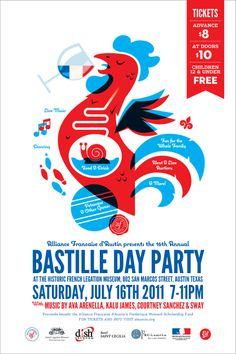 I must say i could also repin this in patterns and crazy 'cause, bastille day in Austin, Texas is such a funny thing for a french gal! :oD