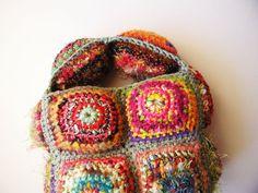 Funny Chic mini bag mini handbag multicolor in green by egle, €75.00