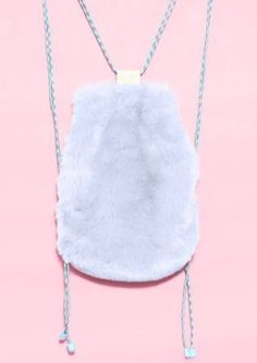 Bag: furry shoulder fluffy backpack back to school lilac pastel pastel furry