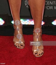 Lili Estefan, shoe detail, attends Univision And The Paley Center For Media Host And Evening Honoring Mario Kruetzberger at The Paley Center for Media on September 8, 2015 in New York City.