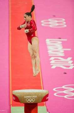 Jordyn Wieber vaults for Team USA during women's gymnastics team finals at the London Olympics.