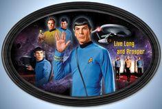 STAR TREK Live Long And Prosper Commemorative Collector Plate