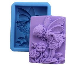Allforhome Lovely Fairy Floral Craft Art Silicone Handmade Soap Mold Craft Moulds DIY