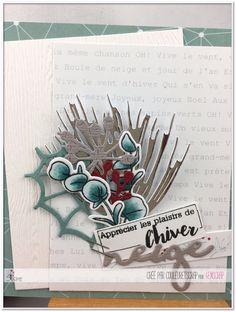 """Couleuretscrap : Tampons & matrices de coupe (dies) #4enscrap """"Les pentes enneigées"""""""