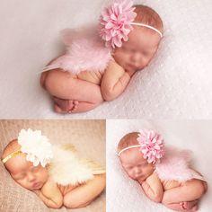 Sweet Newborn Baby Girls Wings&Headband Costume Photo Photography Prop Outfit #UnbrandedGeneric