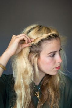 6 DIY Hairstyles Perfect For Long-Haired Ladies. i love her hair!