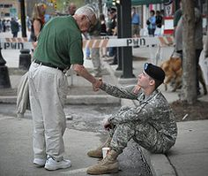 """Every soldier should get a simple """"thank you"""" on a daily basis."""