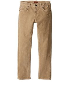 Seven For All Mankind Boys Slimmy Straight Khaki Corduroy Pants Size 12 MSRP $59  | eBay