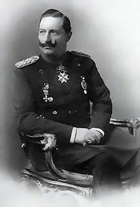 WWI-Wilhelm II, German Emperor grandson of Queen Victoria Prince Albert - backed Austria-Hungary, was already in a arms race with Britain by the time Franz Ferdinand was assassinated. Reine Victoria, Victoria Reign, Queen Victoria Prince Albert, Victoria And Albert, Princess Victoria, Wilhelm Ii, Kaiser Wilhelm, Frederick William, Prince Frederick