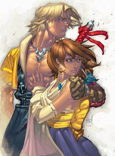 Final Fantasy art by Joe Madureira (from PSM #43)